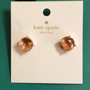 Kate Spade Gumdrop Earrings in Light Peach